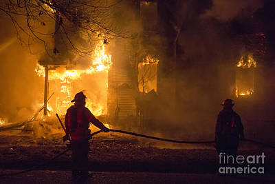 Photograph - Firefighters by Jim West