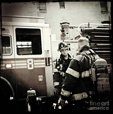 Photograph - Firefighters Of New York - Good Old Engine Eight by Miriam Danar