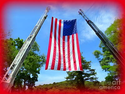 Digital Art - Firefighters Salute by Ed Weidman