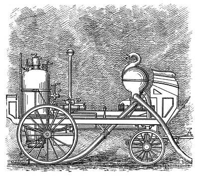 Digital Art - Firefighting, 1829 by Granger