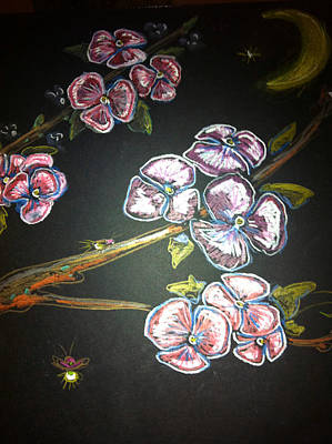Fireflies And Dogwood Art Print