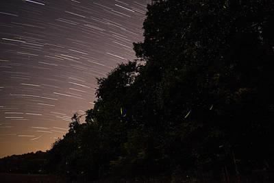 Lightning Photograph - Fireflies And Startrails by Manda Renee