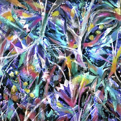 Painting - Garden Fireflies by Jean Batzell Fitzgerald
