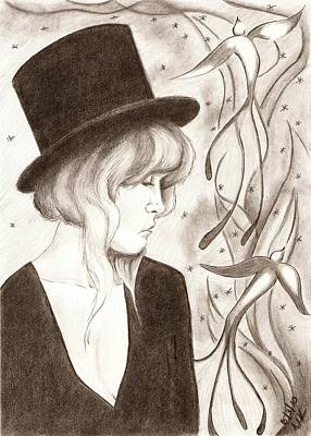 Stevie Nicks Drawing - Fireflies by Michelle Kinzler