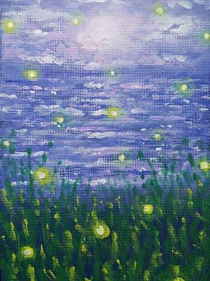 Youthful Painting - Fireflies Playing by Jennifer McCallister