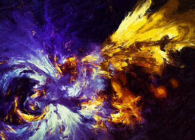 Digital Art - Firefly Abstract by Georgiana Romanovna