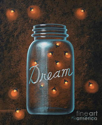 Firefly Painting - Firefly Dream by Mary Charles