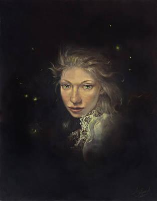 Firefly Fairy Art Print by Lee Lynch