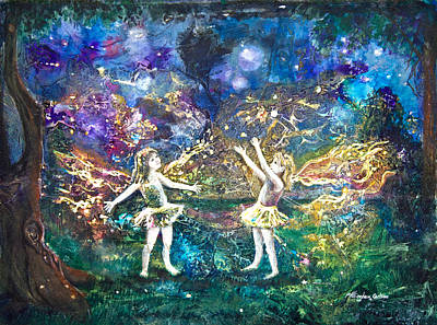 Lightning Mixed Media - Firefly Frolic by Patricia Allingham Carlson