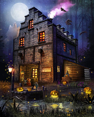 Pumpkin Mixed Media - Firefly Inn Halloween Edition by Joel Payne