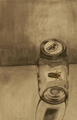 Drawing - Firefly by Liz Adkinson