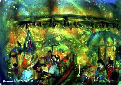 Painting - Firefly Market by Wanvisa Klawklean