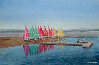 Painting - Firefly Reflections by Peter Farrow
