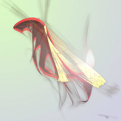 Wall Art - Digital Art - Firefly by Warren Lynn