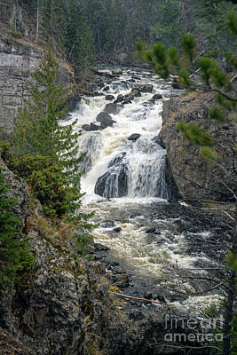 Photograph - Firehole Falls by Cindy Murphy - NightVisions