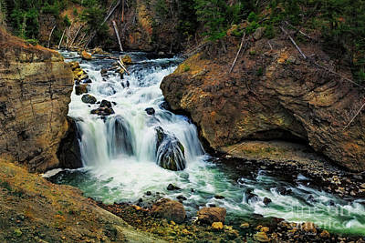 Photograph - Firehole Falls by Craig J Satterlee