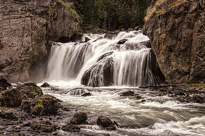 Photograph - Firehole Falls by Josh Bryant