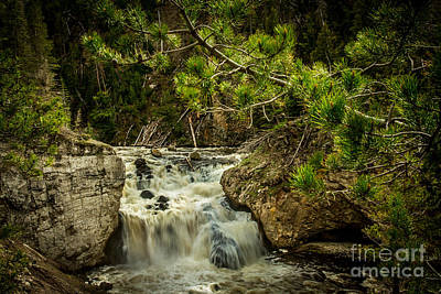 Photograph - Firehole Falls by Robert Bales