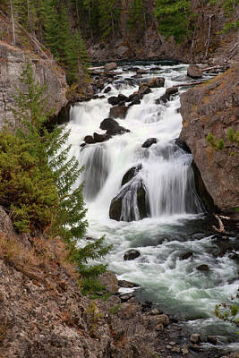 Photograph - Firehole Falls by Steve Stuller