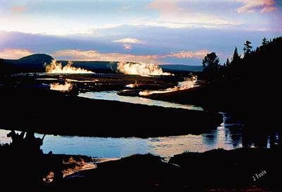 Firehole River 2 Art Print
