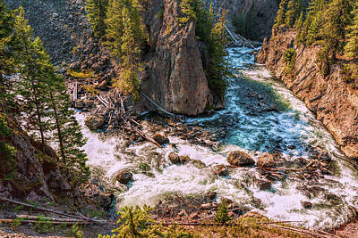 Photograph - Firehole River Bend by John M Bailey