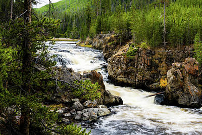 Photograph - Firehole River Cascades by TL Mair