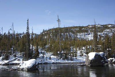 Photograph - Firehole River by Mary Haber