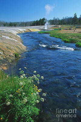 Photograph - Firehole River by Stan and Anne Foster
