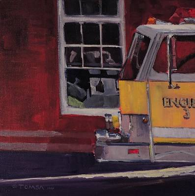 Painting - Firehouse - Art By Bill Tomsa by Bill Tomsa