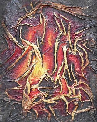 Mixed Media - Firelight by Angela Stout
