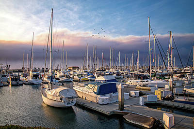 Photograph - Firelight At Ventura Harbor by Lynn Bauer