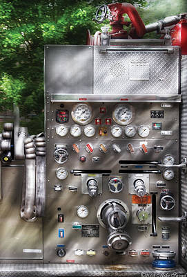 Fireman - Fireman's Controls Art Print by Mike Savad