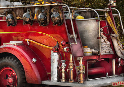 Photograph - Fireman - Ready For A Fire by Mike Savad