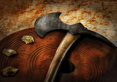 Photograph - Fireman - The Fire Axe  by Mike Savad