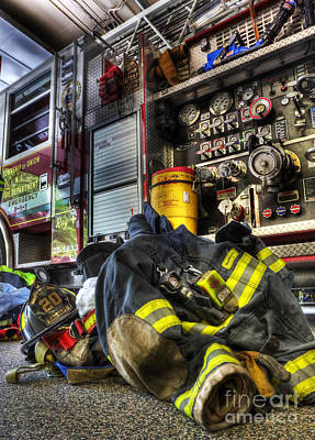 Truck Photograph - Fireman - Always Ready For Duty by Lee Dos Santos