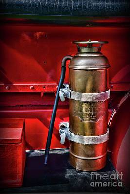 Photograph - Fireman-brass Fire Extinguisher by Paul Ward
