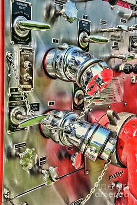 Photograph - Fireman Chrome Control Panel by Paul Ward