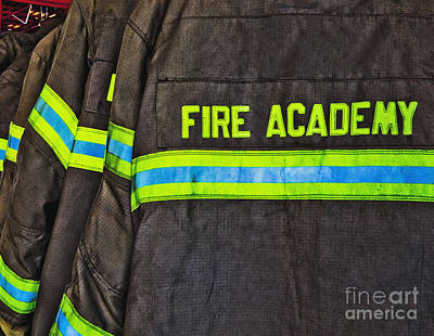 Fireman Jackets Art Print by Skip Nall