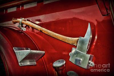 Photograph - Fireman-the Ceremonial Axe by Paul Ward