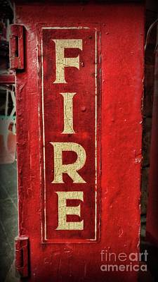 Photograph - Fireman - The Fire Alarm Box Side View by Paul Ward