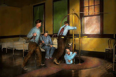 Fireman - The Firebell Rings 1922 Art Print by Mike Savad