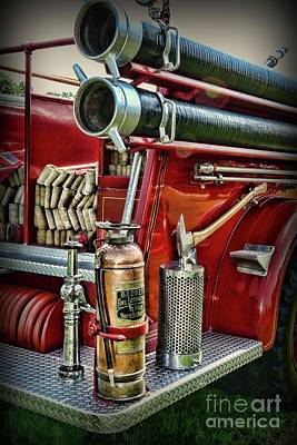 Photograph - Fireman Things On The Truck  by Paul Ward