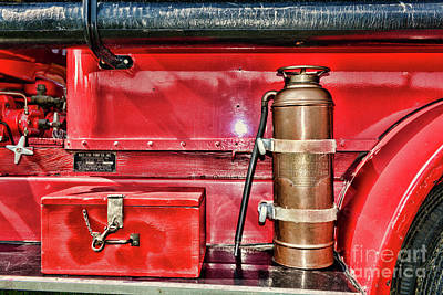 Photograph - Fireman Toolbox And Extinguisher by Paul Ward