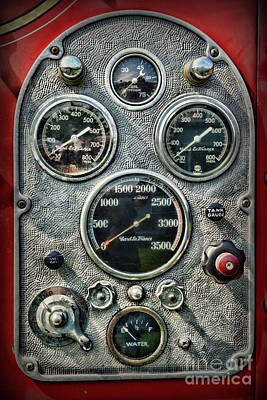 Photograph - Fireman-vintage Control Panel by Paul Ward