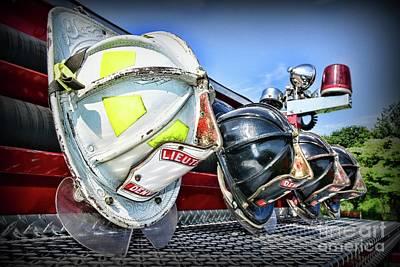Photograph - Fireman-vintage Fire Helmet  by Paul Ward