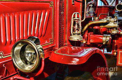 First Responders Photograph - Fireman-vintage Fire Truck by Paul Ward