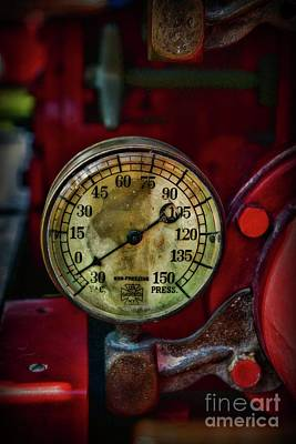 Photograph - Fireman-vintage Pressure Gauge by Paul Ward