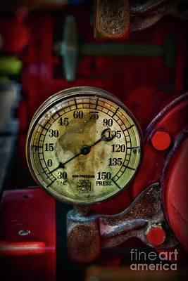 Photograph - Fireman-vintage Pressure Gauge by Paul Ward