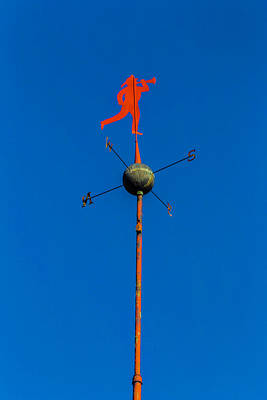 Weathervane Photograph - Fireman Weather Vane by Garry Gay
