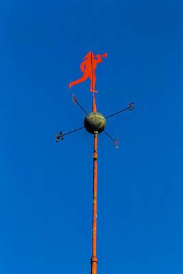 Mechanism Photograph - Fireman Weather Vane by Garry Gay